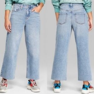 Denim - wild fable high rise skater wide leg crop jeans
